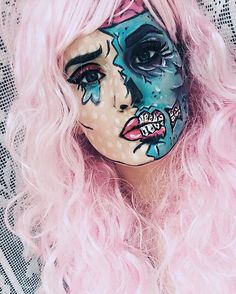 Just had to share this picture I took last fall, popart zombie inspired by…