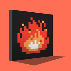 I want this in this in my fireplace =] #8bits fire | #Zelda sprite art cheminée