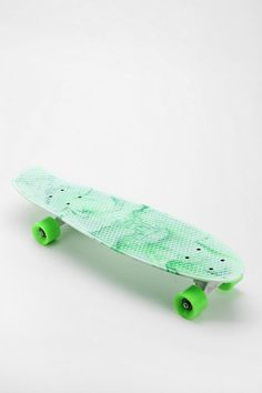 I love the color! I just recently got my nickle board, its black with lime green, it's similar to penny boards but its 27 inches( nickel board) instead of 22 inches(penny board)
