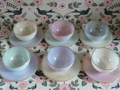 Teacups - going to do a wedding in June with succulents in teacups. I will post pics of some when I get them put to together.