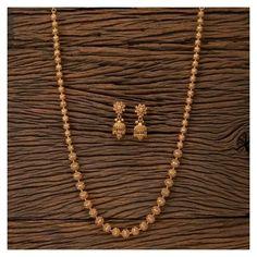Jewelry Design Earrings, Gold Earrings Designs, Jewelry Necklaces, Long Necklaces, Jewelry Box, Gold Chain Design, Gold Jewelry Simple, Indian Necklace, Indian Jewelry