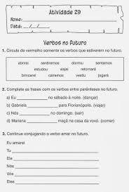 Resultado de imagem para atividades de portugues para 4 ano verbos
