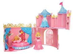 Disney Princesses – W5615 – Poupée et Mini-Poupée – Château Royal Magiclip – Belle au Bois Dormant | Your #1 Source for Toys and Games