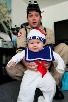 Put those lil fat rolls to good use with this Marshmallow Man costume.   26 Halloween Costumes For Toddlers That Are Just Too Cute To Believe