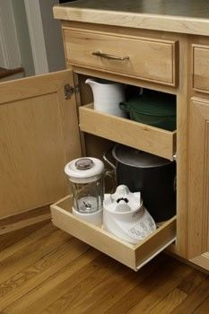 I have to dig so far into my cabinets I'm practically spelunking. This DIY pull-out shelf project is a must do!