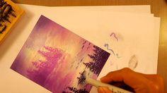 Stampscapes 101: Video 56. Purple Mist.