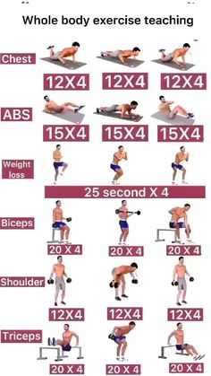 Workout Without Gym, Abs And Cardio Workout, Gym Workouts For Men, Gym Workout Chart, Gym Workout Videos, Weight Training Workouts, At Home Workouts, Body Workouts, Gymnastics Workout