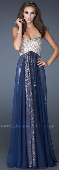 dressestime New Arrival Empire Floor-length Organze Prom Dresses ORPD-40008 Charming Long Flowing Sequined Bodice evening dresses,blue prom dresses,beading evening dresses 2015,sweetheart party dress,long prom dresses