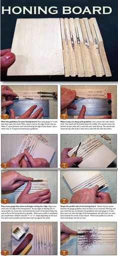 DIY Honing Board - Sharpening Wood Carving Tools - Sharpening Tips, Jigs and Techniques   WoodArchivist.com