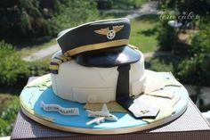 Cake for a pilot - Cake by Tera cakes - CakesDecor Mini Tortillas, Airplane Birthday Cakes, Planes Cake, Vintage Tea Parties, Retirement Cakes, Dress Cake, Cakes For Men, Specialty Cakes, Themed Cakes