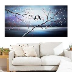 Shop for Design Art 'Together Forever Birds' 40 x 20 Canvas Art Print. Get free delivery at Overstock.com - Your Online Art Gallery Store! Get 5% in rewards with Club O!
