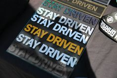 STAY DRIVEN STICKERS