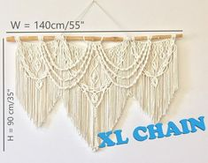 Extra Large Macrame wall hanging, Tapestry for Boho Home Decor, Over the Bed Decor, Macrame Headboard or Wedding Decor Bohemian Accent