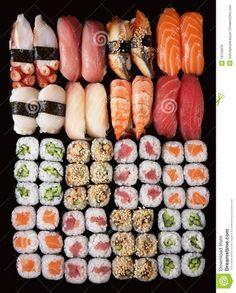 Photo à propos Ensemble de fond japonais de sushi - 18155876