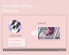 Youtube Intro End screens in Pink / The Pink | Etsy Youtube Banner Backgrounds, Youtube Banners, Intro Youtube, You Youtube, Whats On My Iphone, Clothing Haul, Channel Art, Night Routine, Cat Logo
