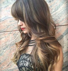 Long Layered Dark Brown Hair With Highlights