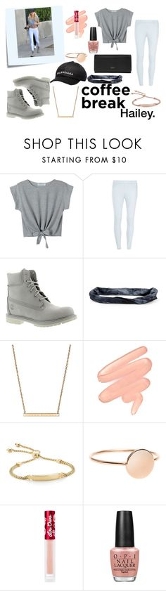 """""""Hailey."""" by mandax17 ❤ liked on Polyvore featuring Post-It, Baldwin, WithChic, Dorothy Perkins, Balenciaga, Timberland, Aéropostale, Chopard, Lime Crime and Monica Vinader"""