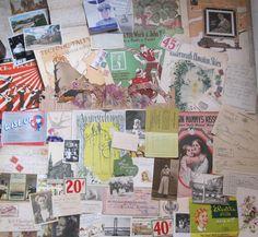 Big lot of vintage paper items
