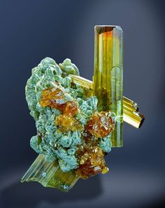 Vesuvianite and Hessonite - Bellecombe, Aosta valley, Italy Size: 24 mm