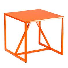 Strut Side Table Orange, $239.20, now featured on Fab.