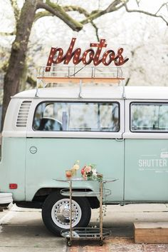 Vintage Van Photo Booth | B. Jones Photography on @perfectpalette via @aislesociety