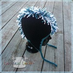 CrazySocks Crochet: Free Mohawk Hat tutorial on a base hat (pattern link for the base hat paid pattern. Mohawk Crochet Hat, Mens Crochet Beanie, Crochet Cap, Cute Crochet, Crochet Crafts, Crochet Projects, Irish Crochet, Diy Projects, Hat Tutorial