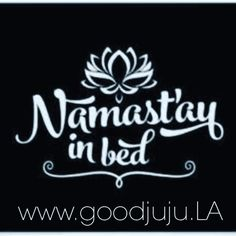 Namastay In Bed Funny Yoga Quote Throw Pillow By Hopealittle