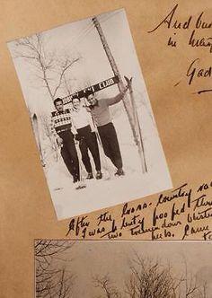 Vintage Canadian SKIING PHOTO ALBUM 1941 Ski St Agathe North Bay + Farm Tractor LOUIS COCHAND STE MARGUERITE