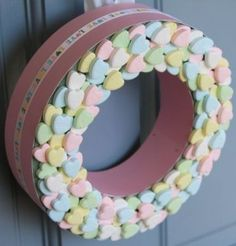 Valentine's Candy Wreath