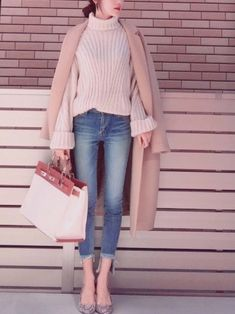 Classy Outfits, Chic Outfits, Pretty Outfits, Fashion Outfits, Womens Fashion, Look Fashion, Daily Fashion, Korean Fashion, Winter Fashion