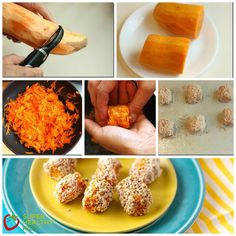 Sweet Potato Tots Steps Collage