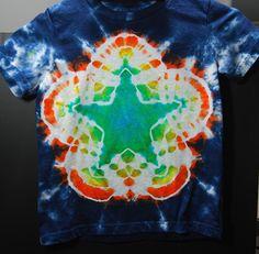 Tie dye star tutorial