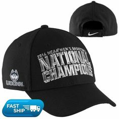Nike UConn Huskies 2014 NCAA Men's Basketball National Champions Coaches Locker Room Adjustable Hat - Black #UConn