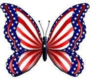 Items similar to butterfly USA patriotic america Custom Personalized Address Labels on Etsy Cartoon Butterfly, Blue Butterfly, Patriotic Crafts, July Crafts, Bee Crafts, Kids Crafts, Patriotic Pictures, I Love America, Butterfly Pictures
