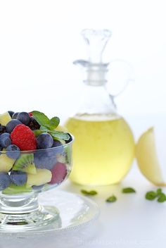 Limoncello Syrup - delicious, unique and super versatile. This syrup is wonderful as a sweetener for tea and drizzled on fresh fruit, yogurt, ice cream, fruit desserts ....
