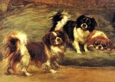 Tibetan Spaniels ~ Maud Earl, Dogs ~ Cross Stitch Pattern #StoneyKnobFarmHeirlooms #Frame