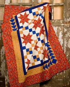 Pattern: French Country Cascade Quilt from Sandi Ray at The Pine Needle Quilt Shop