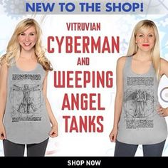 your warm weather wardrobe with these new & tanks! Doctor Who Shop, New Doctor Who, Tanks, Tank Tops, Don't Blink, Warm Weather, Bbc, Shop Now, Brand New