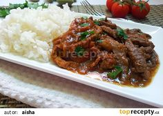 Hovezi nudlicky na zpusob japonskeho Hayashi raisu Beef, Treats, Recipes, Starbucks, Vietnam, Asia, Cooking, Parisian, Meat