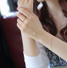 Rose cold chain slave bracelet #wehaveit! @ShannonFineJewelry