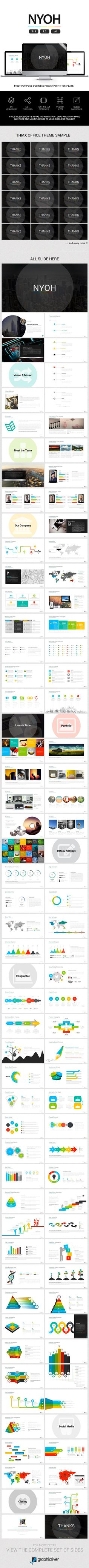 Nyoh Business Powerpoint — Powerpoint PPT #presentation #modern • Download ➝ https://graphicriver.net/item/nyoh-business-powerpoint/19263420?ref=pxcr