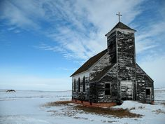 St. John's Lutheran Church, Arena, ND.  Ghost town now.