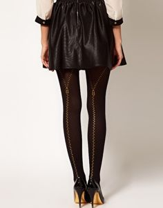 ASOS Zip Detail Tights must add to collection Cute Tights, Cute Socks, Designer Tights, Asos, Cute Stockings, Whimsical Fashion, Stocking Tights, Colourful Outfits, Colorful