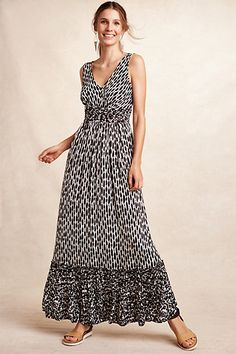 Seacoast Maxi Dress from Plenty by Tracy Reese -- pretty lines and nice mixed black and white print.