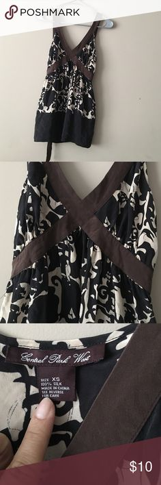 Central Park West 100% silk top size xs Central Park West 100% silk top size xs floral print Central Park West  Tops