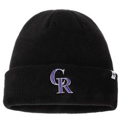 Colorado Rockies '47 Current Logo Cuffed Knit Hat - Black