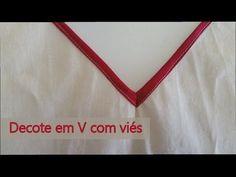 Como colocar viés no decote em V - YouTube