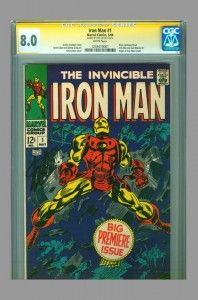CGC SS 8.0 Iron Man #1 signed by Stan Lee - on www.vaultcollectibles.com #ironman #stanlee #cgcss #vaultcollectibles