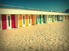changing rooms on the beach