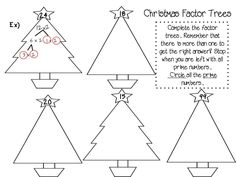 Christmas Factor Trees and other Activities! Tis' the season for your students to understand prime, composite, factor trees and multiples! Fancy Free in Fourth